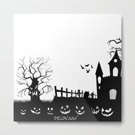 HALLOWEEN BLACK AND WHITE Metal Print