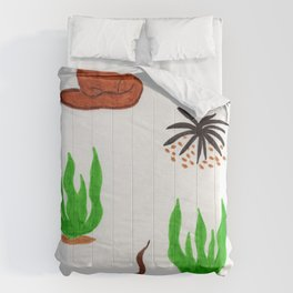 Coyote and snake Comforters