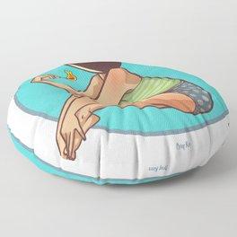 Bombshell with a Match Floor Pillow