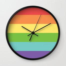 Retro Rainbow Pride Wall Clock