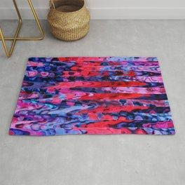 Atomic Lava Strips Rug