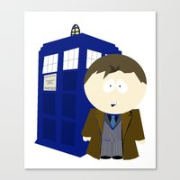 dr who Canvas Prints featuring Dr who? by Karen Yuill