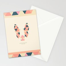 Boston Terrier: Triangles. Stationery Cards