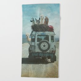 NEVER STOP EXPLORING II SUMMER EDITION Beach Towel