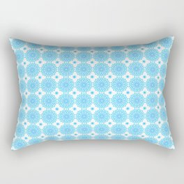 Background - blue mandala (zendala), abstract graphic-design vector pattern. Rectangular Pillow
