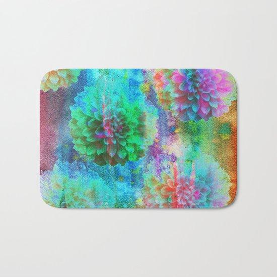 Colorful Dahlias Q Bath Mat