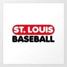 St. Louis Baseball Art Print