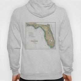 Vintage Map of Florida (1848) Hoody