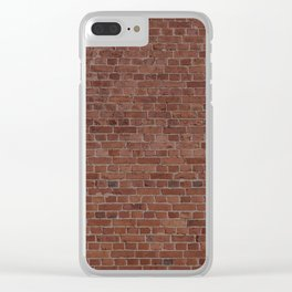 Brooklyn NYC Loft Apartment Brown Stone Brick Wall Clear iPhone Case