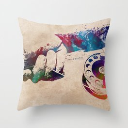 Fishing sport art #fishing Throw Pillow