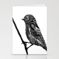 ornate Stationery Cards featuring Ornate Bird by ZantosDesign