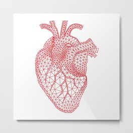 abstract red heart Metal Print
