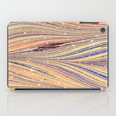 Marbled White Light Flow iPad Case