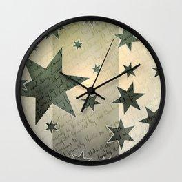 Star Peace Wall Clock