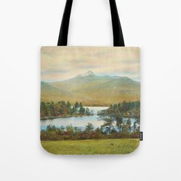 Hand Colored Photograph of Mt. Chocoura, New Hampshire 1920 Charles Henry Sawyer Tote Bag