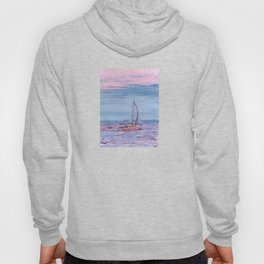 Sailing on the bay at sunset Hoody