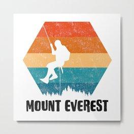 Climbing Gift Tee Climber TShirt Bouldering Shirt Mount Everest Rock Climbing TShirt  Metal Print
