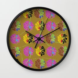 loopy flower Wall Clock