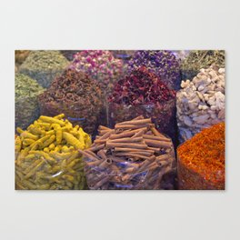 Spice Market: Gold Souk Dubai Canvas Print