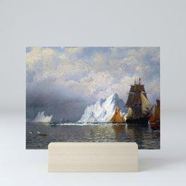 William Bradford Whaler and Fishing Vessels near the Coast of Labrador Mini Art Print
