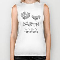 woodstock Biker Tanks featuring Earth mama by daniroxanne