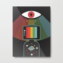 man tv Metal Print