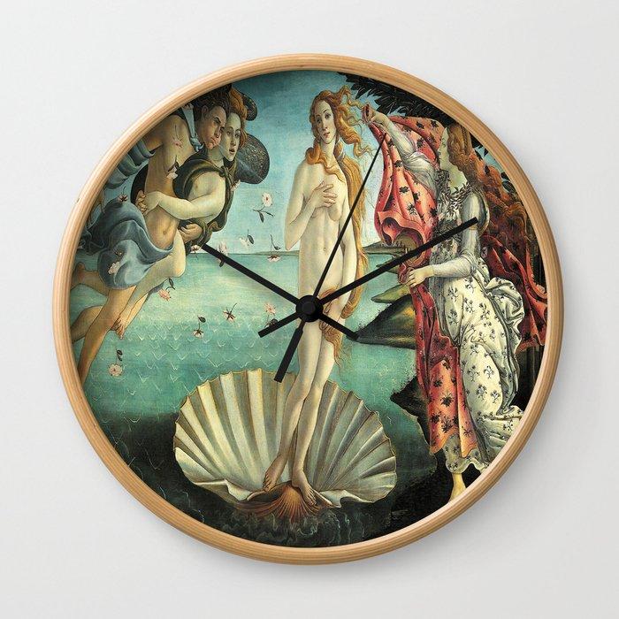 Sandro Botticelli's The Birth of Venus Wall Clock