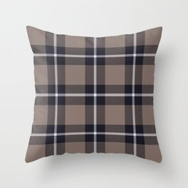 big dark weave monochrome Throw Pillow