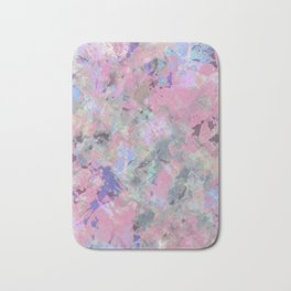 Pink Blush Abstract Bath Mat