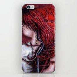 my heart soars like a blood red artifact iPhone Skin