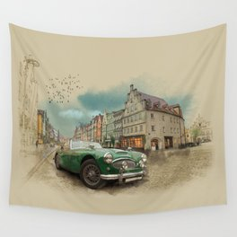 Germany on a rainy day Wall Tapestry