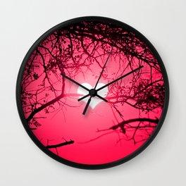 Forest Love Sunrise Wall Clock