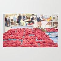 Raspberries Rug