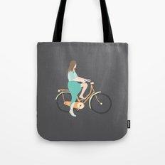 Girl on a bike Tote Bag
