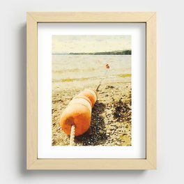 Floats, Lily Bay State Park, Maine Recessed Framed Print
