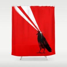 Laser Crow Shower Curtain