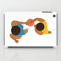 lakers iPad Cases featuring Basketball / Geometrical portrait of the LA Laker vs the New York Knicks by In The Modern Era