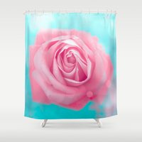 rose Shower Curtains featuring Rose  by Loredana:Flowers