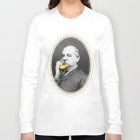 cleveland Long Sleeve T-shirts featuring Grover Cleveland & Bananaphone by Kate Creates