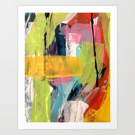 Hopeful[2] - a bright mixed media abstract piece Art Print