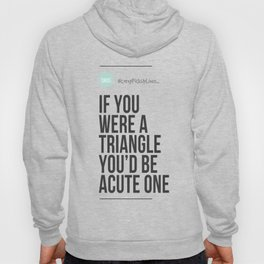 If Your Were A Triangle You'd Be Acute One Hoody