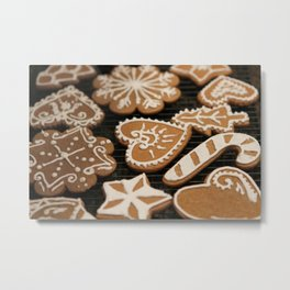 Holiday Iced Cookies Metal Print