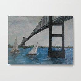 Newport Clairborne Pell Bridge Metal Print