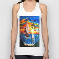 pirates Tank Tops featuring PIRATES by Aat Kuijpers