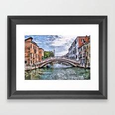Under The Bridges Of Venice Framed Art Print