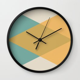 Mid Century - Yellow and Blue Wall Clock