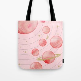 The Pink Solar System Tote Bag
