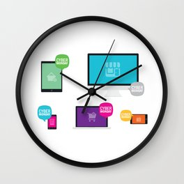 Cyber Monday Orders Wall Clock