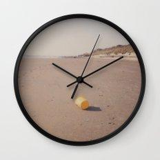 Yellow bucket Wall Clock