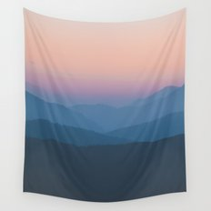 Sunset over Nepal Wall Tapestry